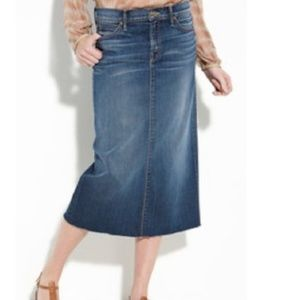 Mother Staright A Jean Midi Skirt